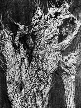 houtskool op print, A5 formaat
