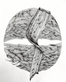 fineliner op A2 papier
