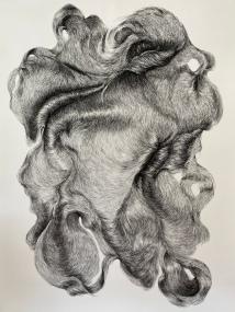 abundance 1, 210 x 150 cm, houtskool op papier
